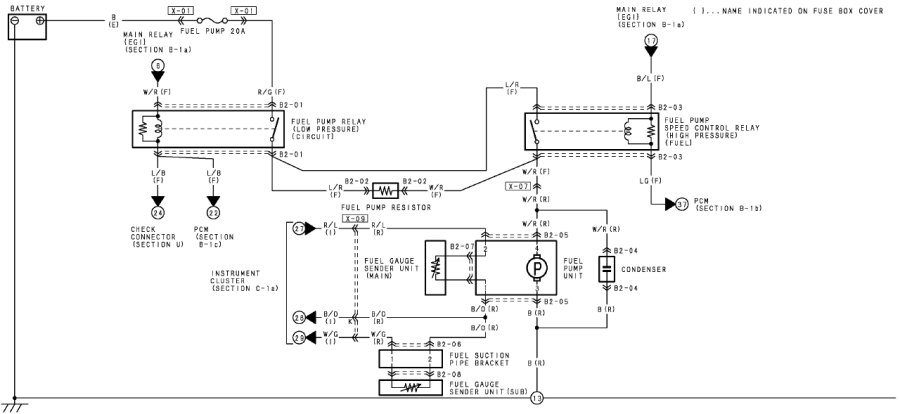 Mazda Fuel Pump Diagram : Mazda rx fuse box diagram wiring images